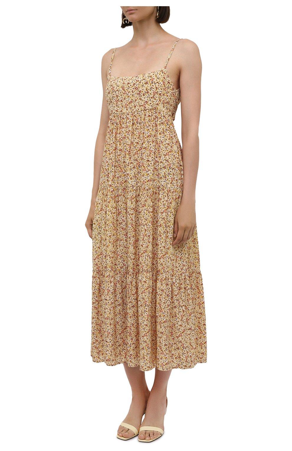Женское платье из вискозы FAITHFULL THE BRAND желтого цвета, арт. FF1659-LRF   Фото 3