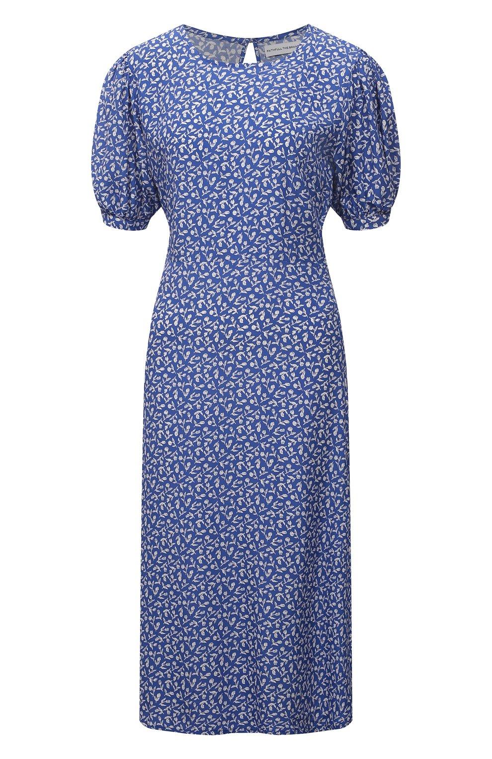 Женское платье из вискозы FAITHFULL THE BRAND синего цвета, арт. FF1742-MVB   Фото 1