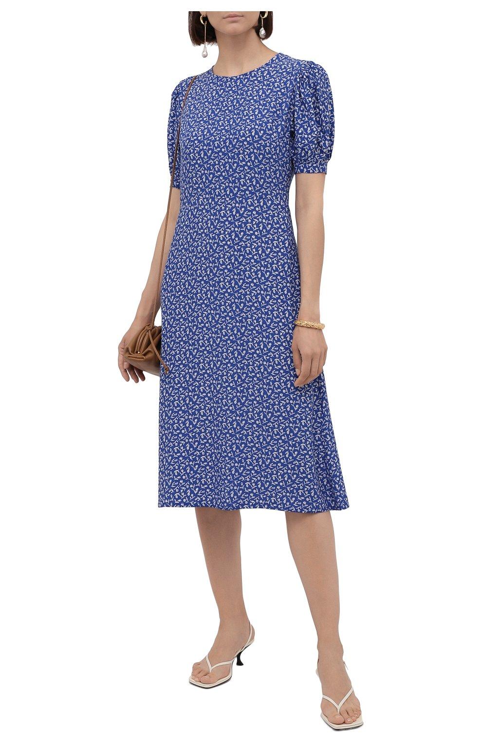 Женское платье из вискозы FAITHFULL THE BRAND синего цвета, арт. FF1742-MVB   Фото 2