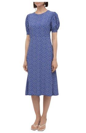 Женское платье из вискозы FAITHFULL THE BRAND синего цвета, арт. FF1742-MVB   Фото 3
