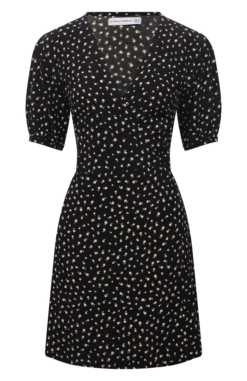 Женское платье из вискозы FAITHFULL THE BRAND черного цвета, арт. FF1825-EVF   Фото 1