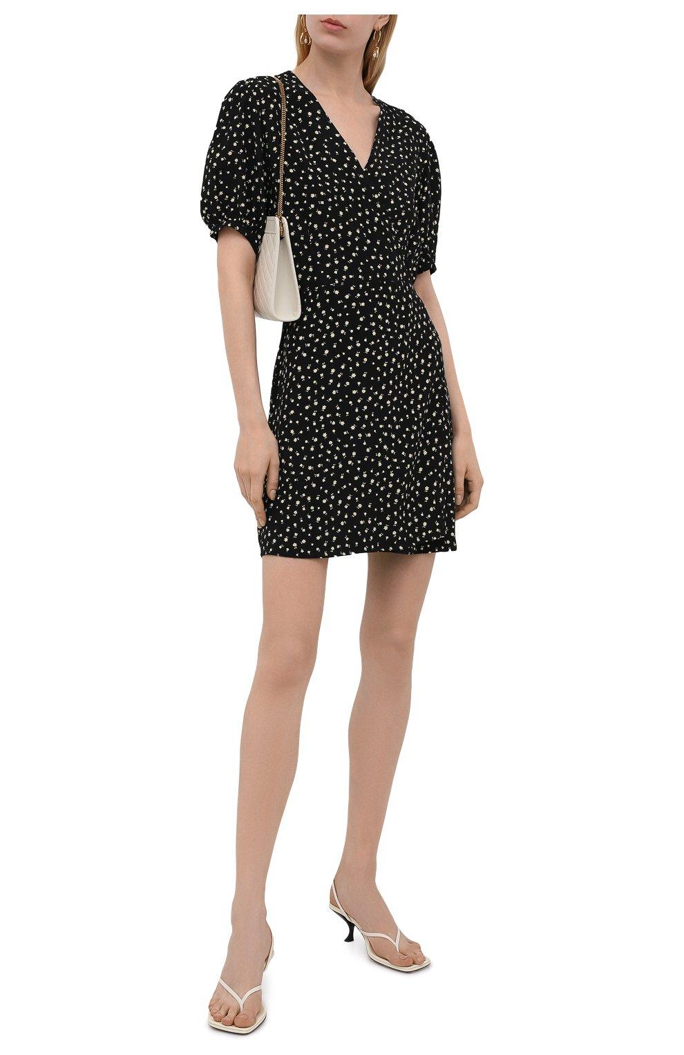 Женское платье из вискозы FAITHFULL THE BRAND черного цвета, арт. FF1825-EVF   Фото 2