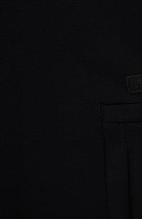 Детское хлопковое платье EMPORIO ARMANI темно-синего цвета, арт. 6K3A05/1JHSZ | Фото 3