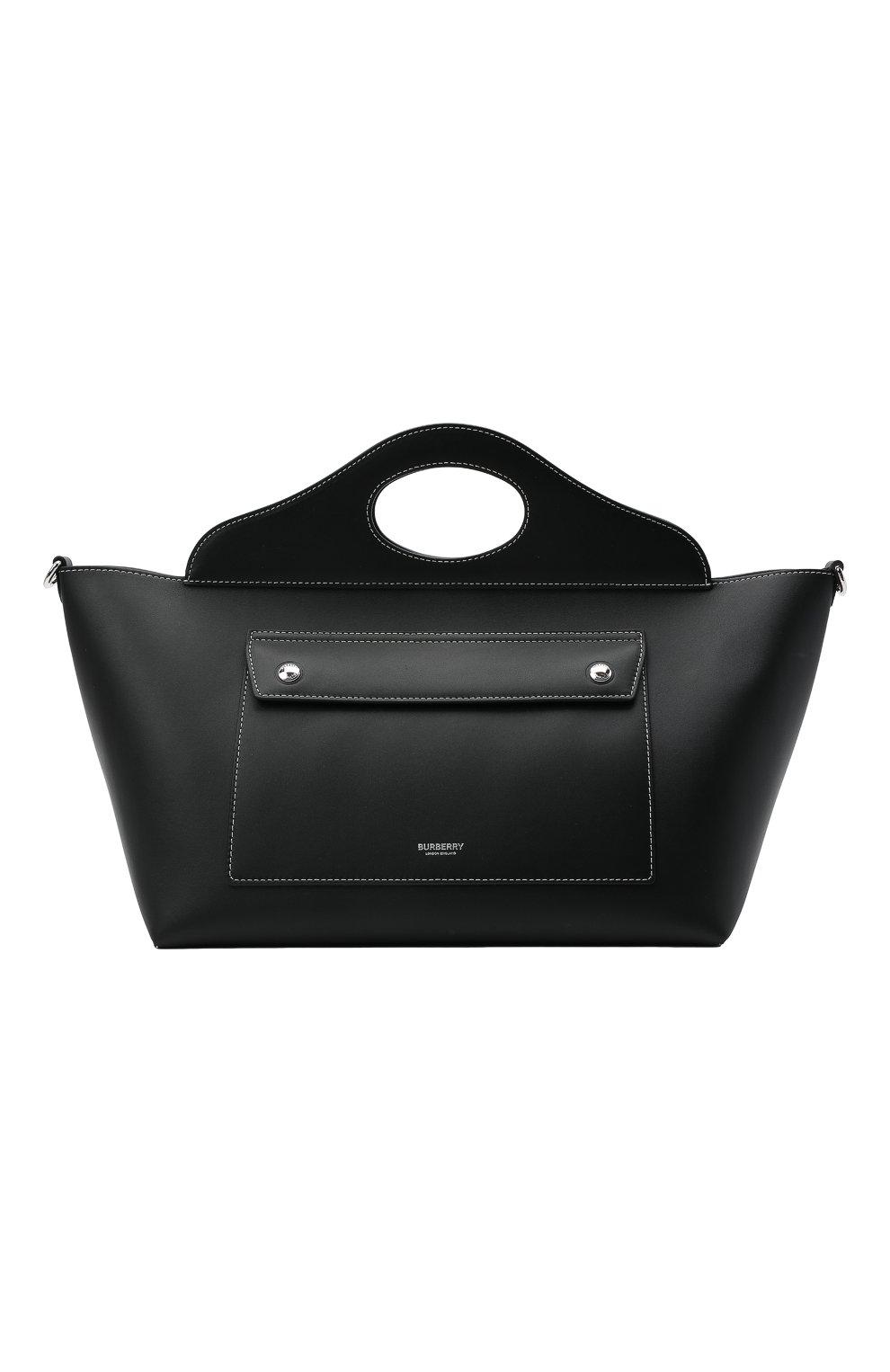 Женская сумка pocket BURBERRY черного цвета, арт. 8041745 | Фото 1