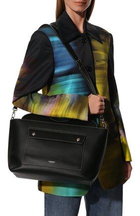 Женская сумка pocket BURBERRY черного цвета, арт. 8041745 | Фото 6