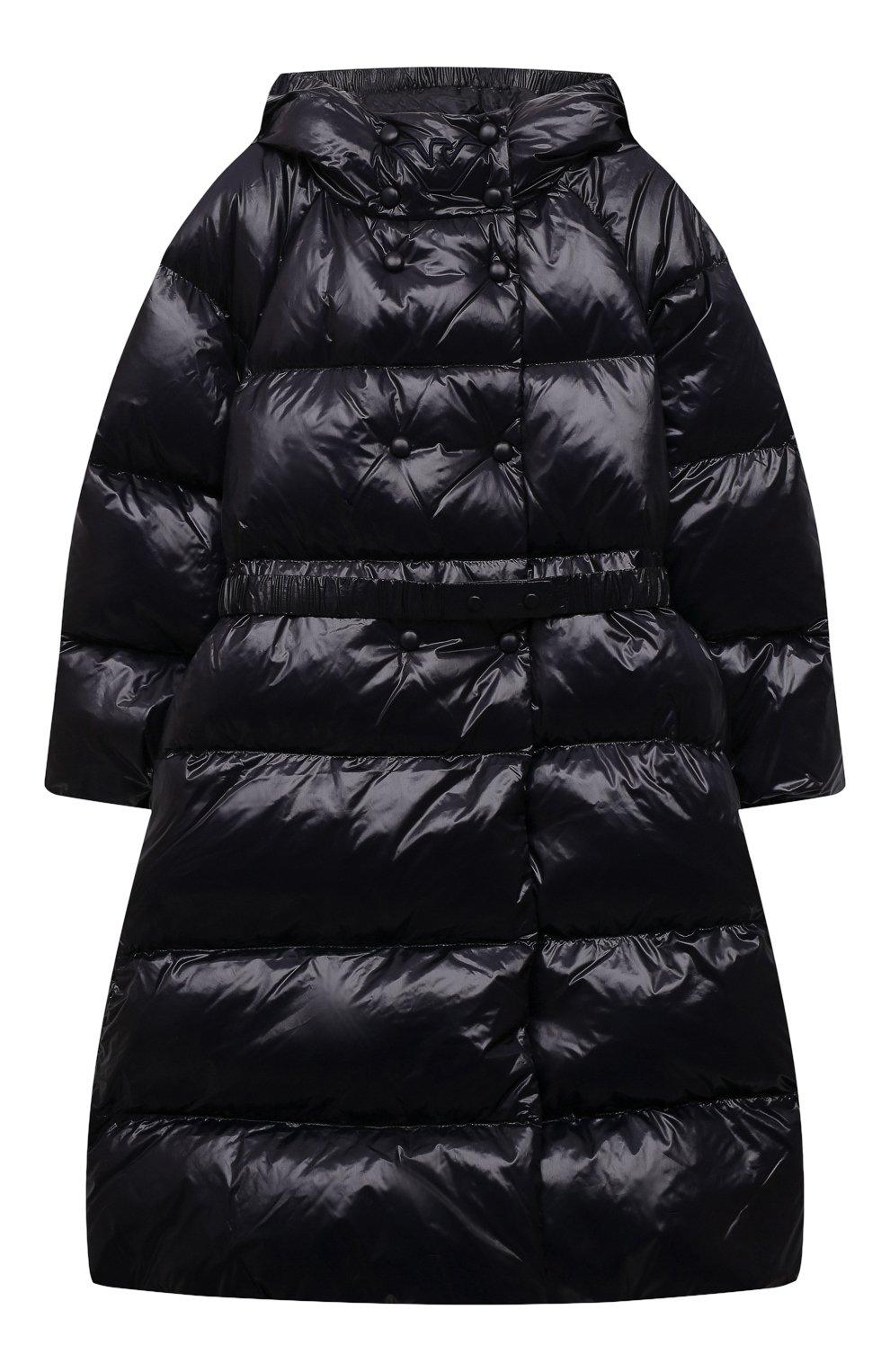 Детское пуховое пальто EMPORIO ARMANI темно-синего цвета, арт. 6K3L08/1NWPZ   Фото 1