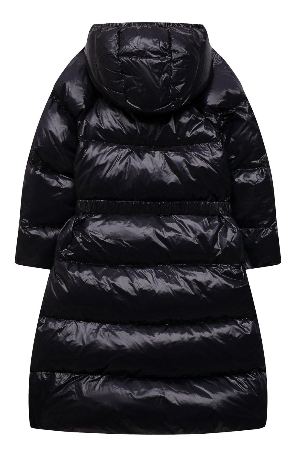 Детское пуховое пальто EMPORIO ARMANI темно-синего цвета, арт. 6K3L08/1NWPZ   Фото 2