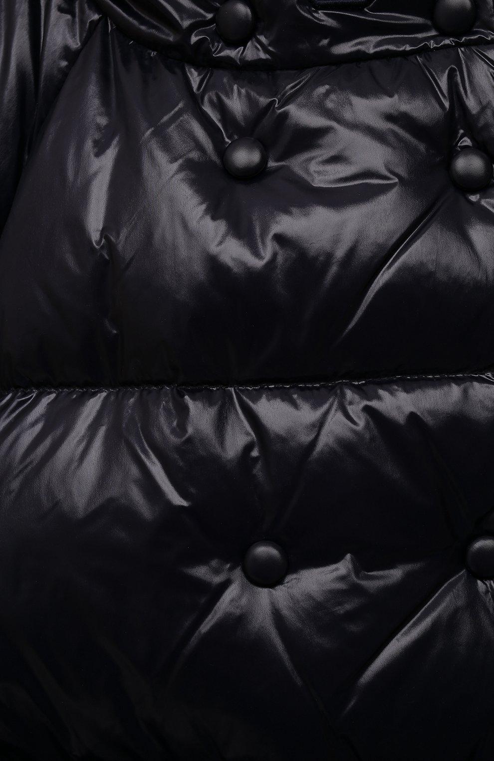 Детское пуховое пальто EMPORIO ARMANI темно-синего цвета, арт. 6K3L08/1NWPZ   Фото 3