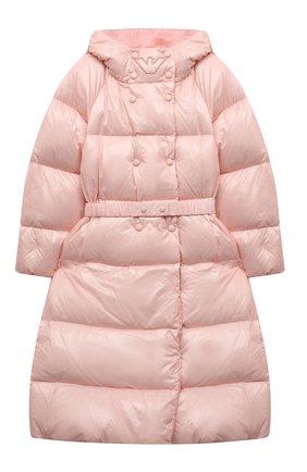 Детское пуховое пальто EMPORIO ARMANI розового цвета, арт. 6K3L08/1NWPZ | Фото 1