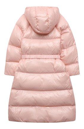 Детское пуховое пальто EMPORIO ARMANI розового цвета, арт. 6K3L08/1NWPZ | Фото 2