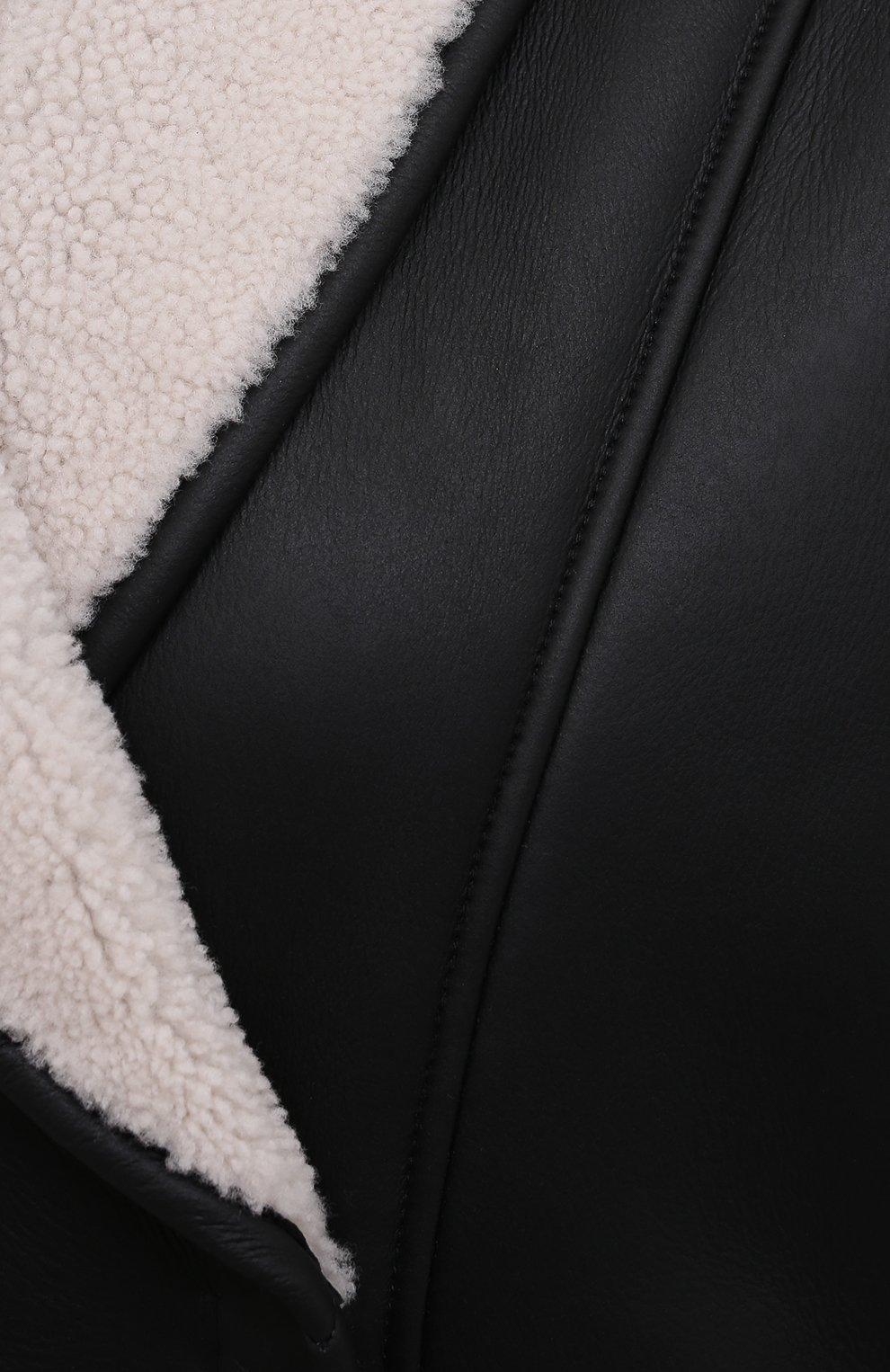 Женская дубленка BLANCHA черного цвета, арт. 21015/300/48/LATTE/NER0 | Фото 5