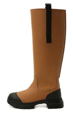 Женские резиновые сапоги GANNI коричневого цвета, арт. S1467 | Фото 3