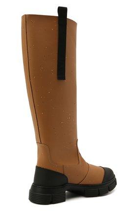 Женские резиновые сапоги GANNI коричневого цвета, арт. S1467 | Фото 4