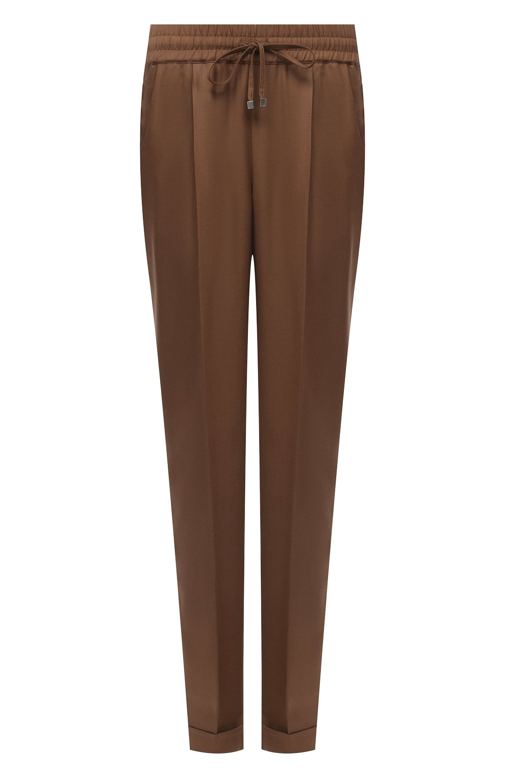 Женские шерстяные брюки KITON коричневого цвета, арт. D37102K01X48 | Фото 1