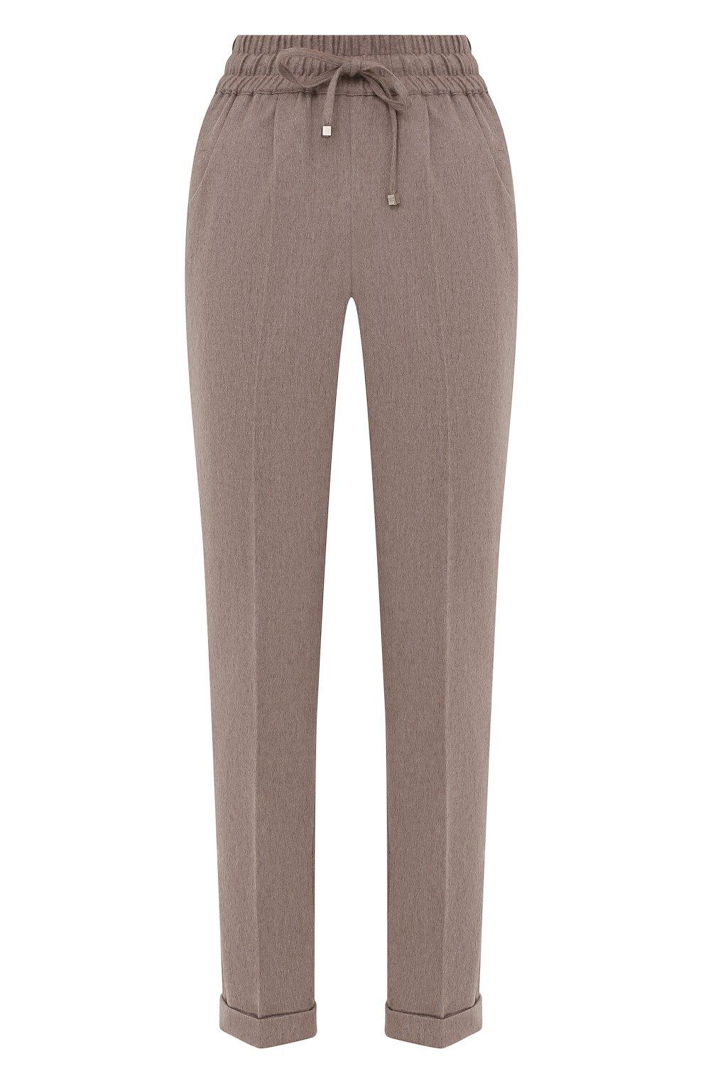 Женские кашемировые брюки KITON бежевого цвета, арт. D37102K0127A   Фото 1