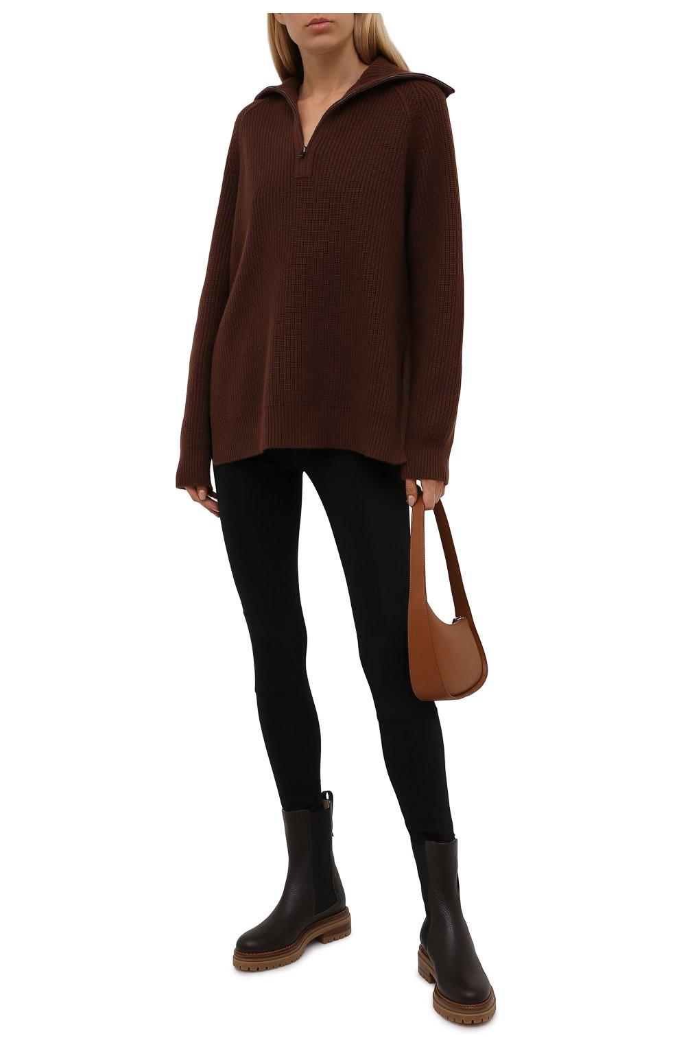 Женские кожаные ботинки sr joan SERGIO ROSSI коричневого цвета, арт. A92030-MMVR13   Фото 2