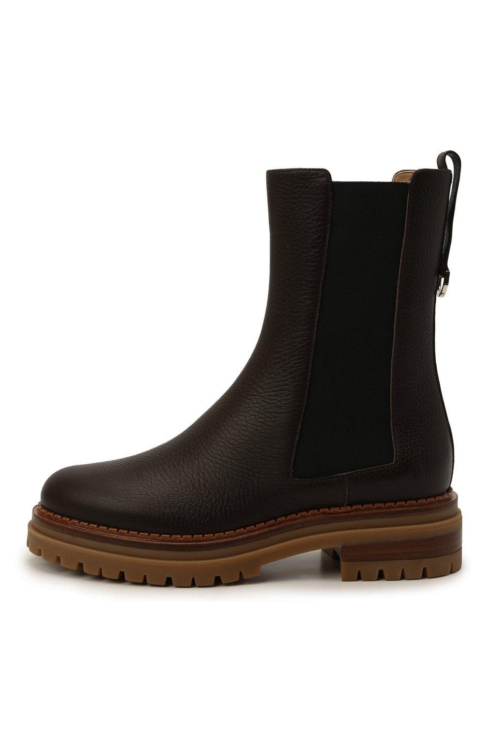 Женские кожаные ботинки sr joan SERGIO ROSSI коричневого цвета, арт. A92030-MMVR13   Фото 3