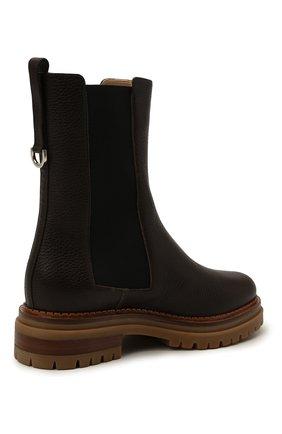 Женские кожаные ботинки sr joan SERGIO ROSSI коричневого цвета, арт. A92030-MMVR13   Фото 4