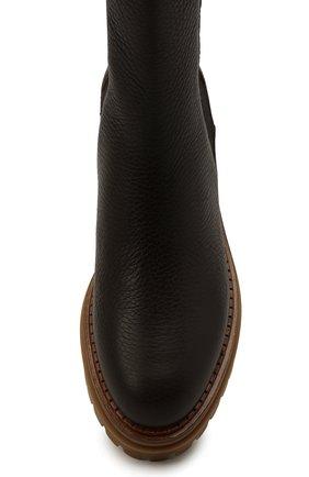 Женские кожаные ботинки sr joan SERGIO ROSSI коричневого цвета, арт. A92030-MMVR13   Фото 5
