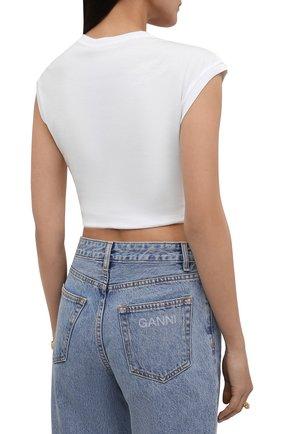 Женская хлопковая футболка DOLCE & GABBANA белого цвета, арт. F8M30Z/G7XAW | Фото 4