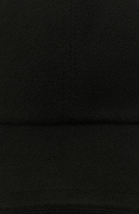Женская бейсболка из шерсти и кашемира MANZONI24 черного цвета, арт. 21M405-DB1 | Фото 3 (Материал: Кашемир, Шерсть)