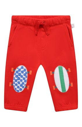 Детские хлопковые брюки STELLA MCCARTNEY красного цвета, арт. 602286/SQJ30 | Фото 1