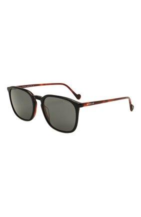 Мужские солнцезащитные очки MONCLER черного цвета, арт. ML 0150 05A 56 С/З ОЧКИ | Фото 1