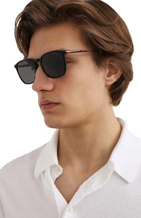 Мужские солнцезащитные очки MONCLER черного цвета, арт. ML 0150 05A 56 С/З ОЧКИ | Фото 2