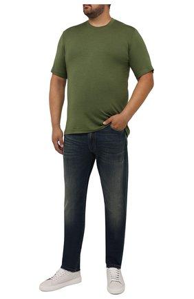 Мужская футболка из шелка и кашемира MARCO PESCAROLO хаки цвета, арт. JAMES/4365 | Фото 2