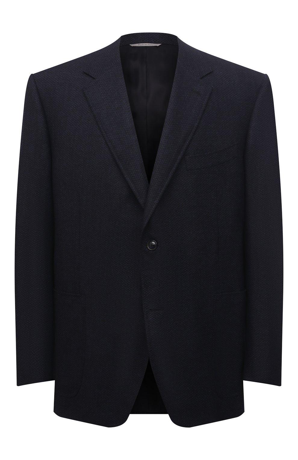 Мужской шерстяной пиджак CANALI темно-синего цвета, арт. 11288/CU02736/112/60-64   Фото 1