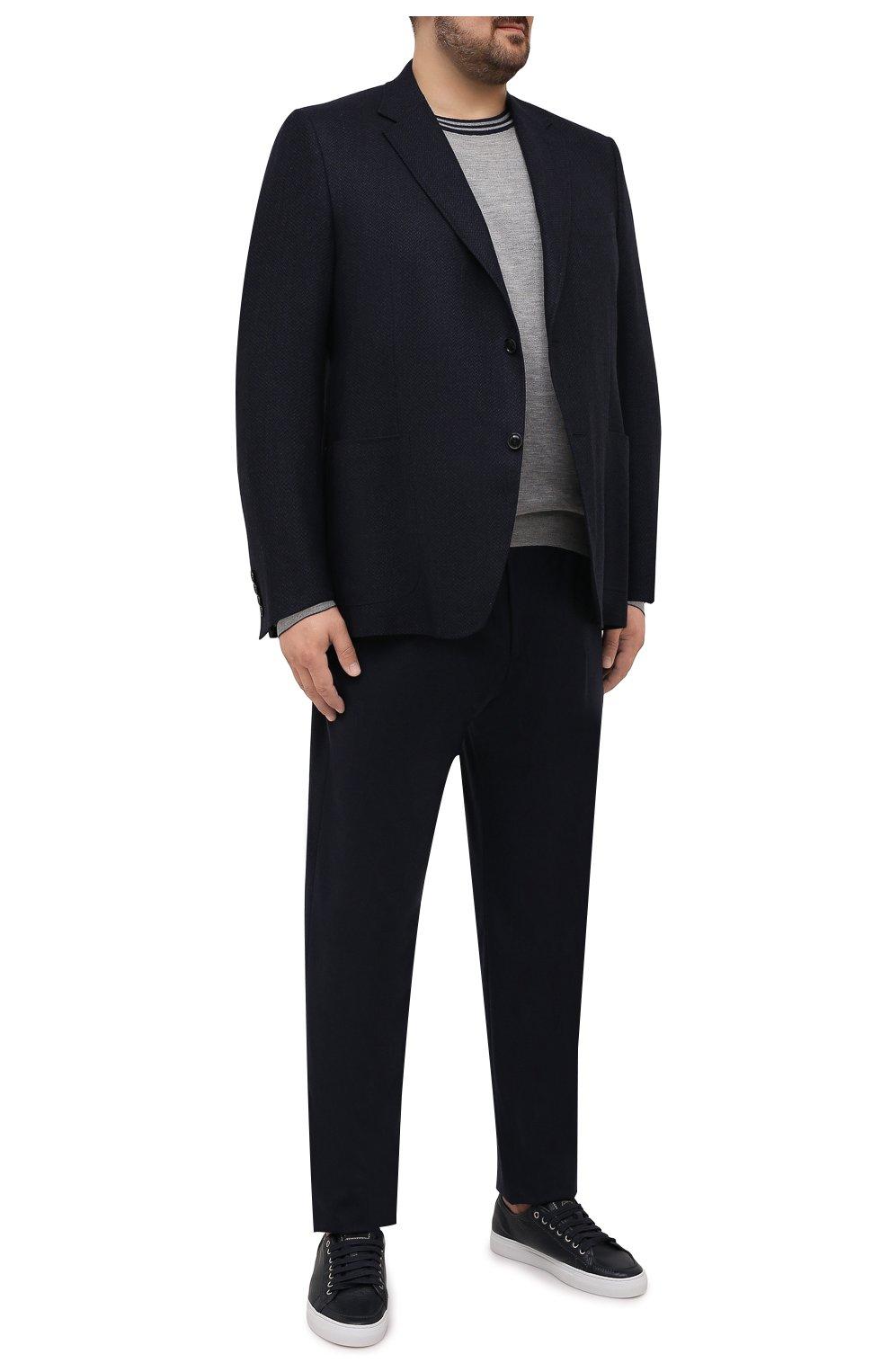 Мужской шерстяной пиджак CANALI темно-синего цвета, арт. 11288/CU02736/112/60-64   Фото 2