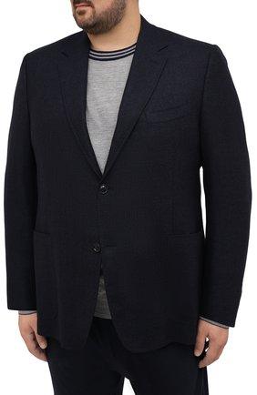 Мужской шерстяной пиджак CANALI темно-синего цвета, арт. 11288/CU02736/112/60-64   Фото 3