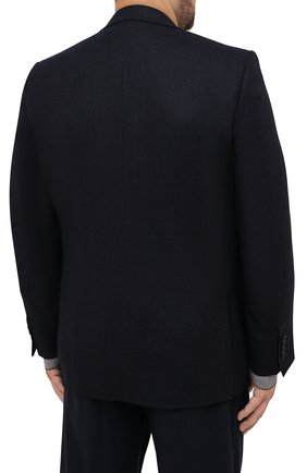 Мужской шерстяной пиджак CANALI темно-синего цвета, арт. 11288/CU02736/112/60-64   Фото 4