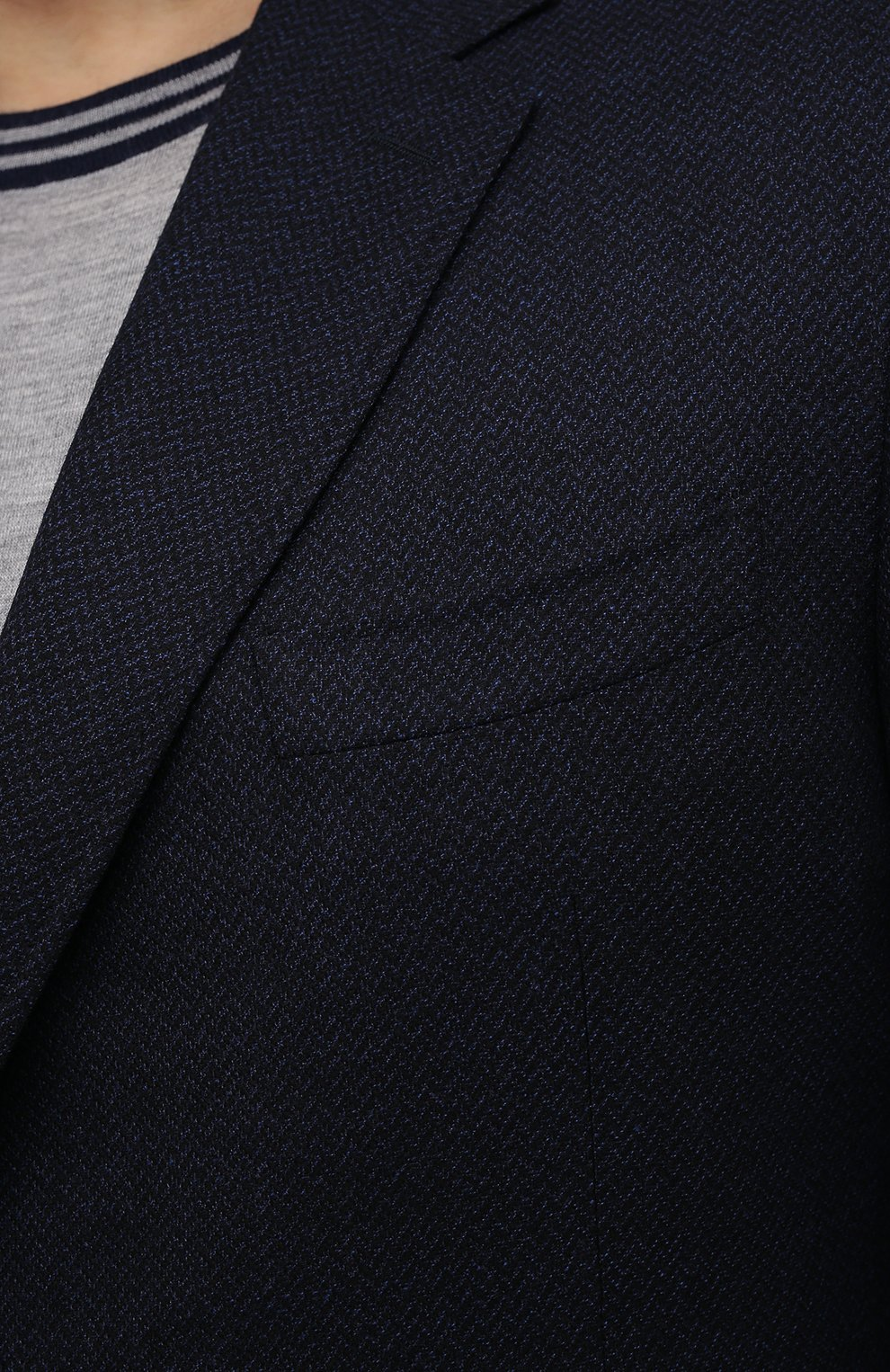 Мужской шерстяной пиджак CANALI темно-синего цвета, арт. 11288/CU02736/112/60-64   Фото 5