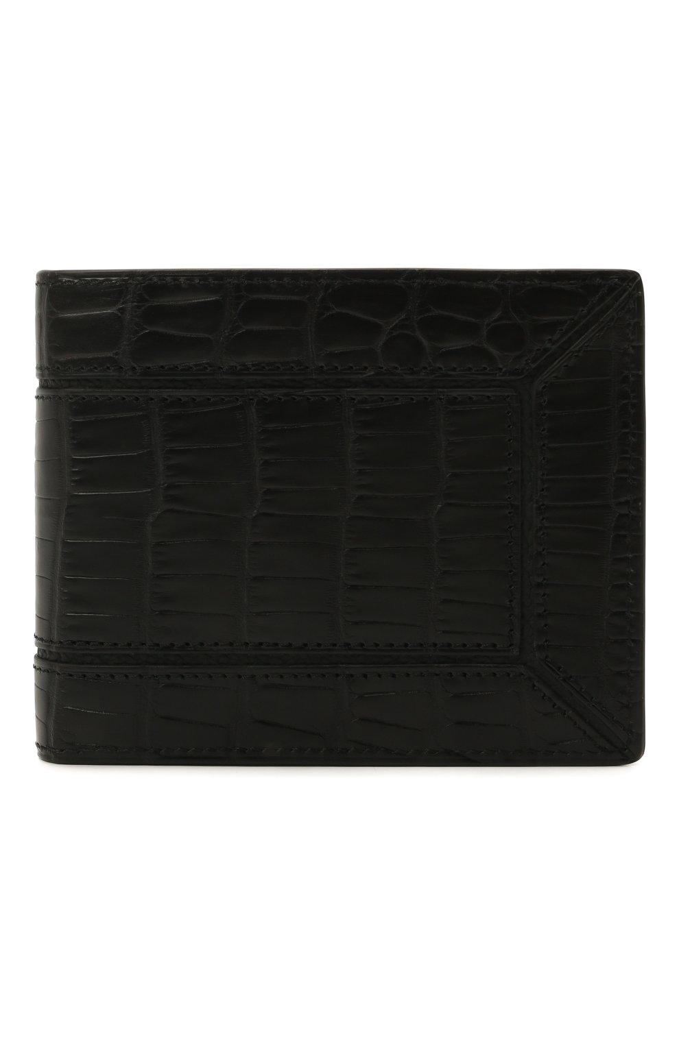 Мужской портмоне из кожи аллигатора ZILLI черного цвета, арт. MJL-0WB02-A0106/0002/AMIS   Фото 1 (Материал: Экзотическая кожа)