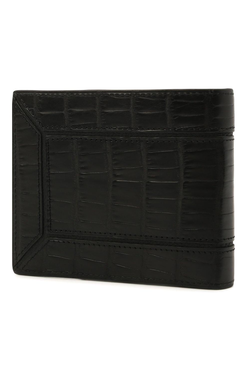 Мужской портмоне из кожи аллигатора ZILLI черного цвета, арт. MJL-0WB02-A0106/0002/AMIS   Фото 2 (Материал: Экзотическая кожа)