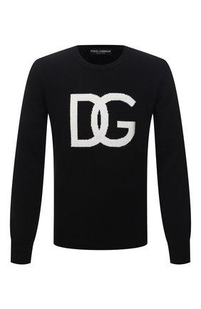 Мужской шерстяной свитер DOLCE & GABBANA черного цвета, арт. GXG73T/JAW9K | Фото 1
