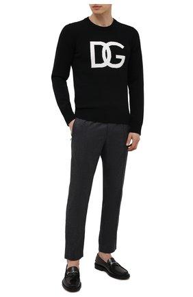 Мужской шерстяной свитер DOLCE & GABBANA черного цвета, арт. GXG73T/JAW9K | Фото 2