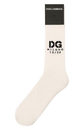 Мужские носки DOLCE & GABBANA белого цвета, арт. GXG55T/JACKT | Фото 1