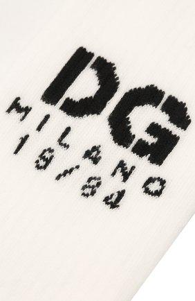 Мужские носки DOLCE & GABBANA белого цвета, арт. GXG55T/JACKT | Фото 2