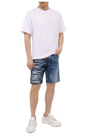 Мужские джинсовые шорты DOLCE & GABBANA синего цвета, арт. GWUACD/G8EM1 | Фото 2