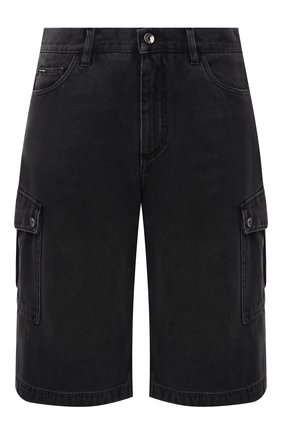 Мужские джинсовые шорты DOLCE & GABBANA черного цвета, арт. GWNYHD/G8ED3 | Фото 1