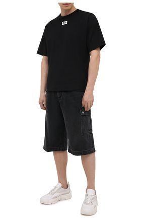Мужские джинсовые шорты DOLCE & GABBANA черного цвета, арт. GWNYHD/G8ED3 | Фото 2