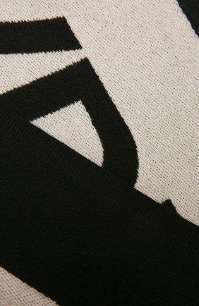 Мужской шерстяной шарф DOLCE & GABBANA черного цвета, арт. GQ215E/G2JAL | Фото 2