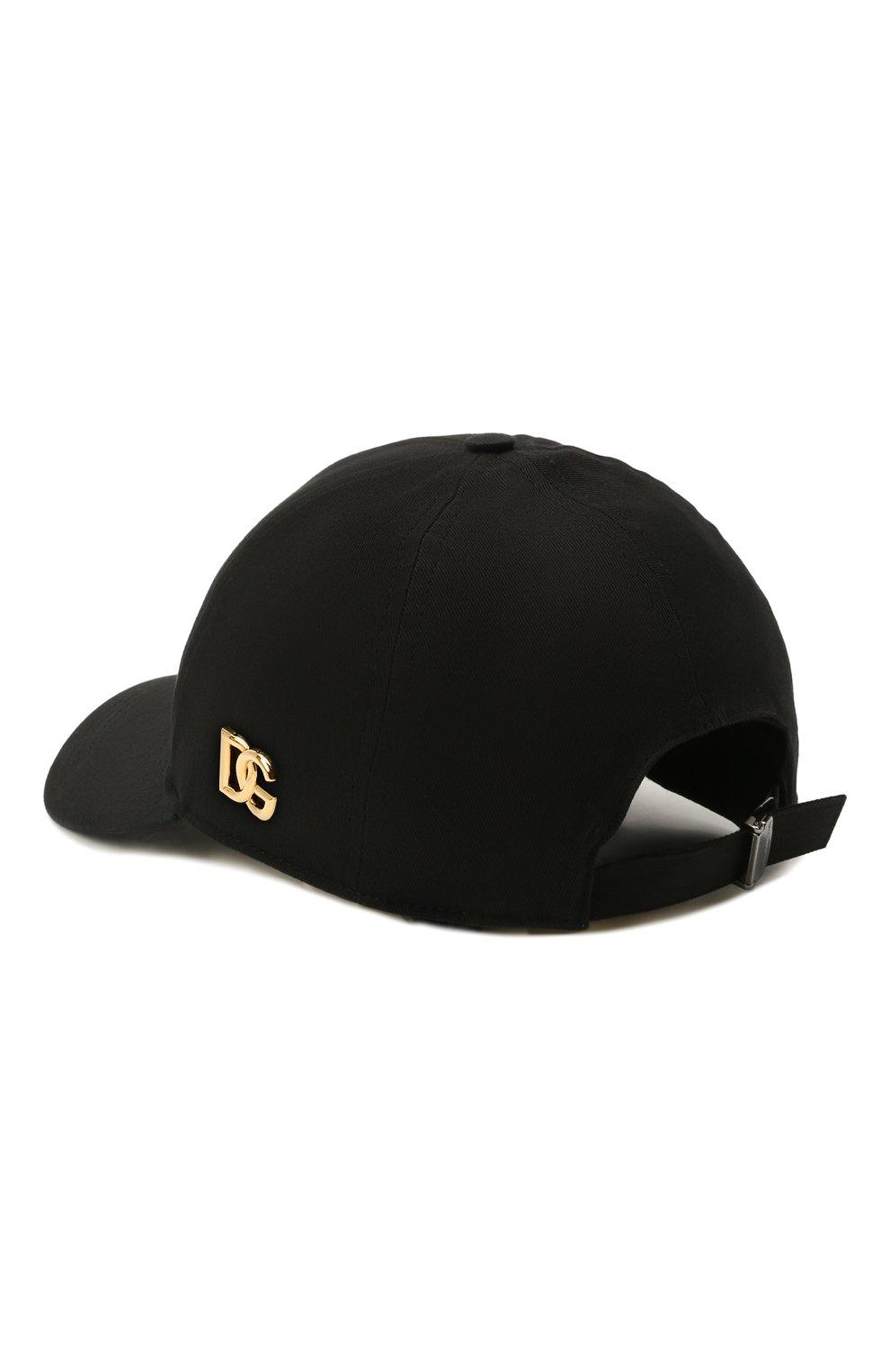 Мужской хлопковая бейсболка DOLCE & GABBANA черного цвета, арт. GH590A/GEV12   Фото 2