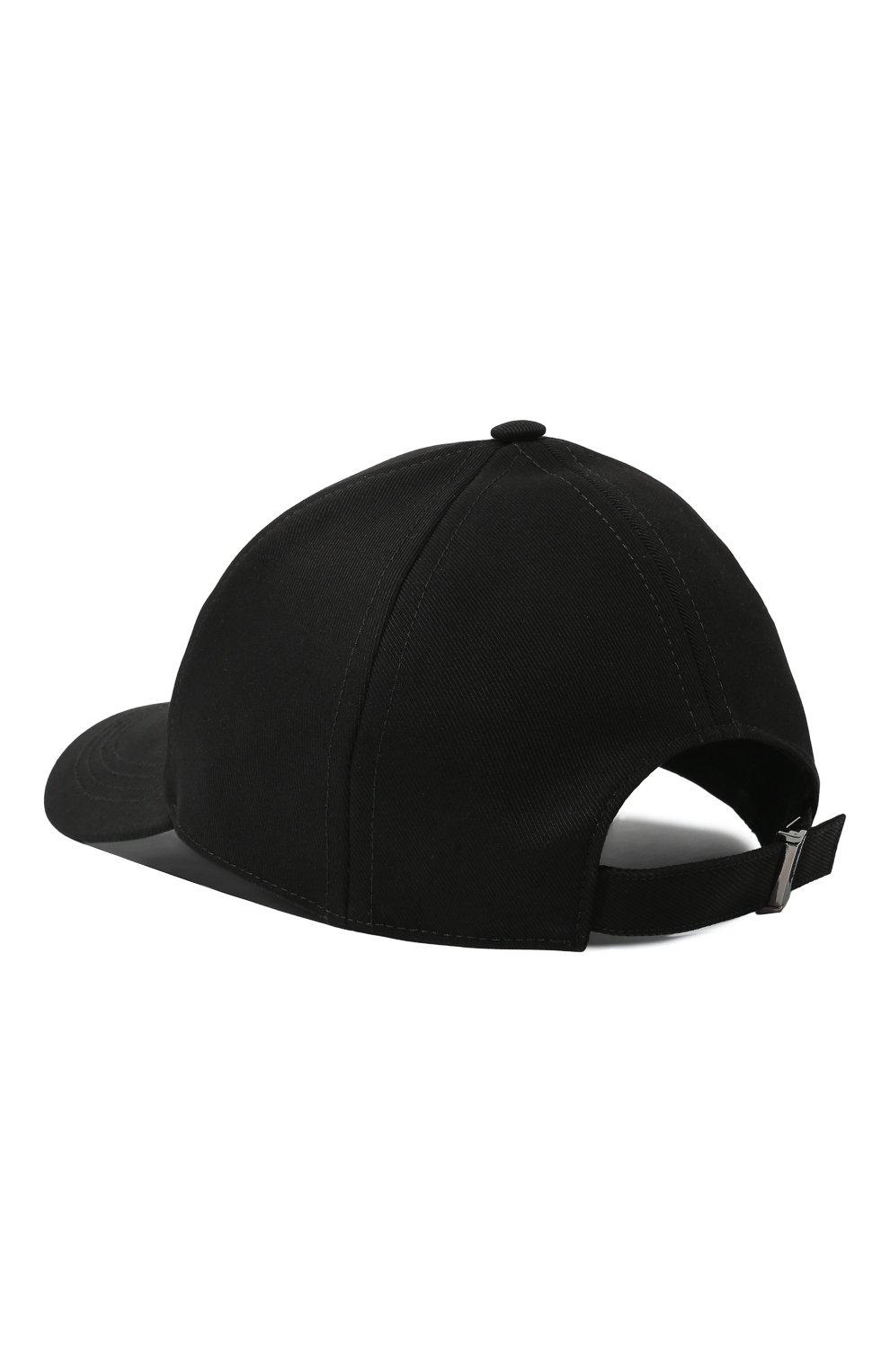 Мужской хлопковая бейсболка DOLCE & GABBANA черного цвета, арт. GH590A/GEV11 | Фото 3