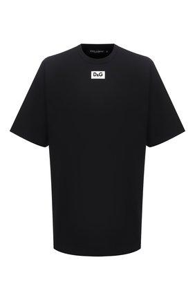 Мужская футболка DOLCE & GABBANA черного цвета, арт. G8NE8T/FUGK4 | Фото 1
