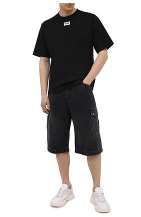 Мужская футболка DOLCE & GABBANA черного цвета, арт. G8NE8T/FUGK4 | Фото 2