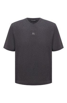 Мужская хлопковая футболка DOLCE & GABBANA темно-серого цвета, арт. G8NC5Z/G7A0W | Фото 1