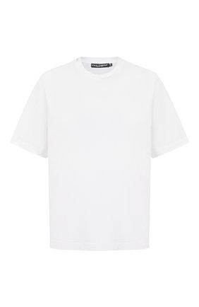 Мужская хлопковая футболка DOLCE & GABBANA белого цвета, арт. G8NC5T/FU7EQ | Фото 1